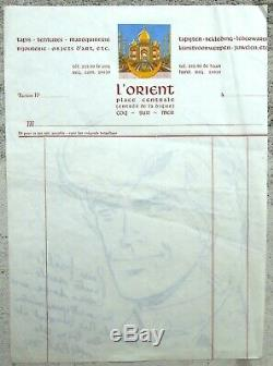 Tibet Grande et ancienne dédicace Ric Hochet De Face 1974 20,5X28