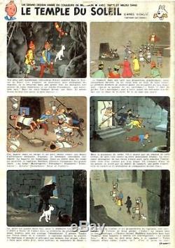 Tintin Et Le Temple Du Soleil Belvision 1969 Cel Et Décor Original Herge