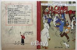 VENTE Hergé Lot 225 Projet de couverture du Crabe Aux Pinces dOr 1942