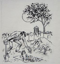 Vampire Planche originale de John SEVERIN de 1983 Mad Magazine Cracked
