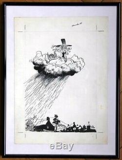 WILL FRANQUIN DELPORTE ISABELLE Dessin original Couverture journal SPIROU 1977