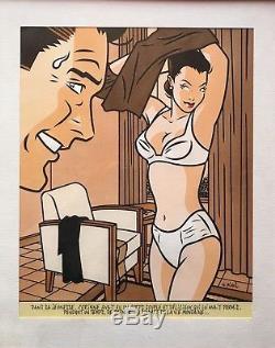 Walter Minusillustration Originale 92 Encre De Chine/gouache/aquarelle Signée