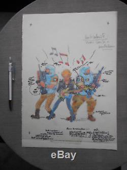 Wasterlain Couverture Originale Journal Spirou 2928 Avec Calque Parfait Etat